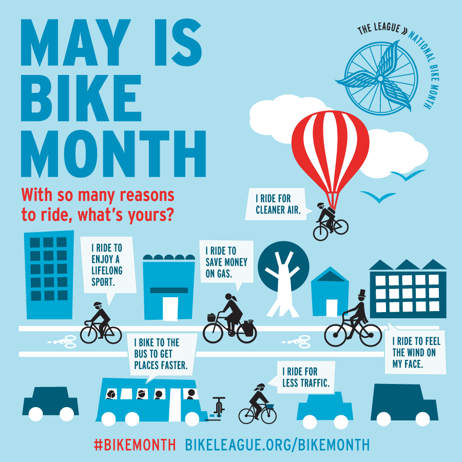 May is Bicycle Safety Awareness Month