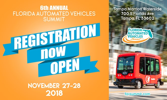 Registration is Open for the Florida Automated Vehicles Summit