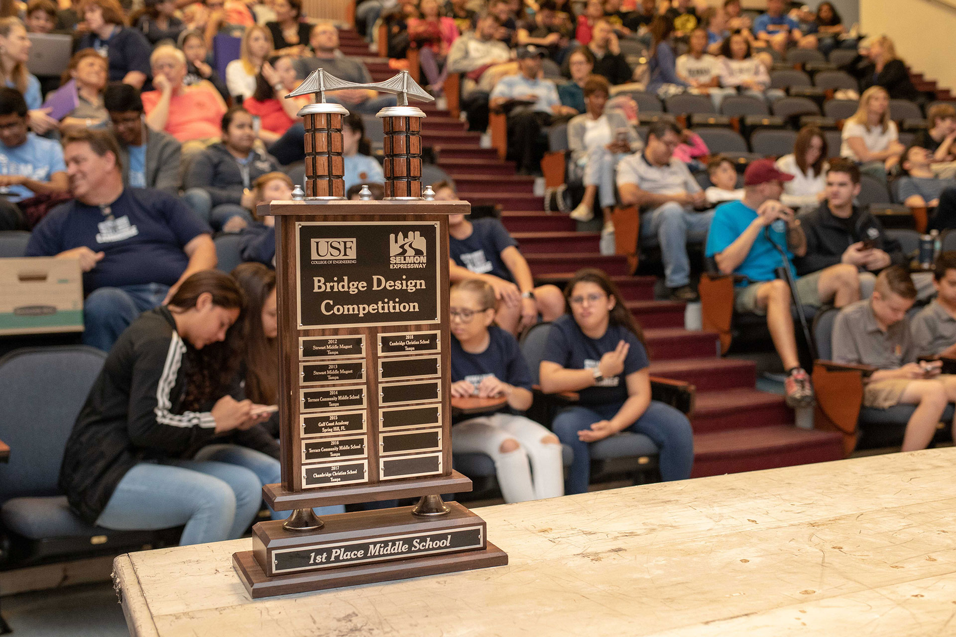 Congratulations to the USF-SE Bridge Building Competition Winners