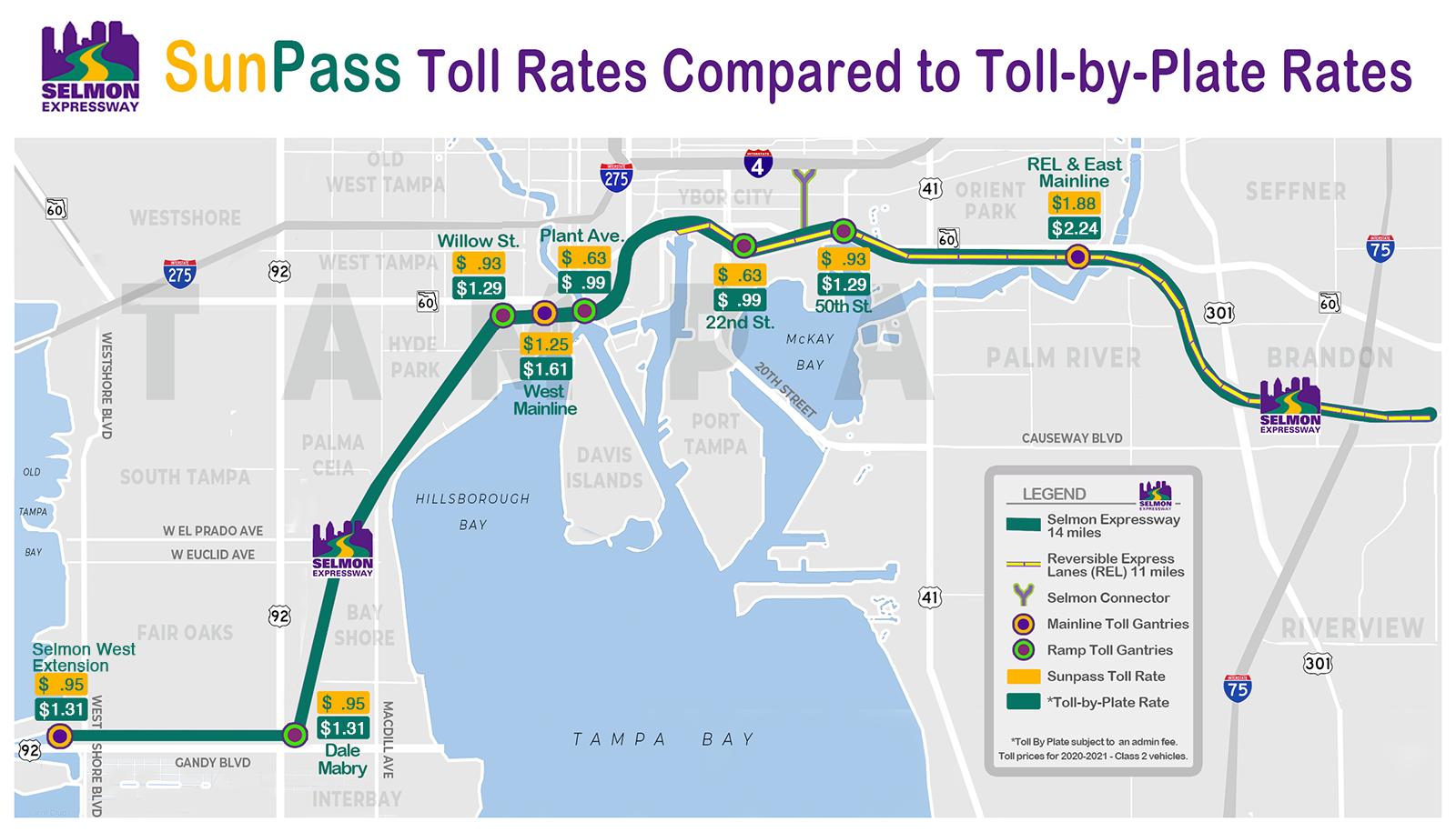 Map of Tolls