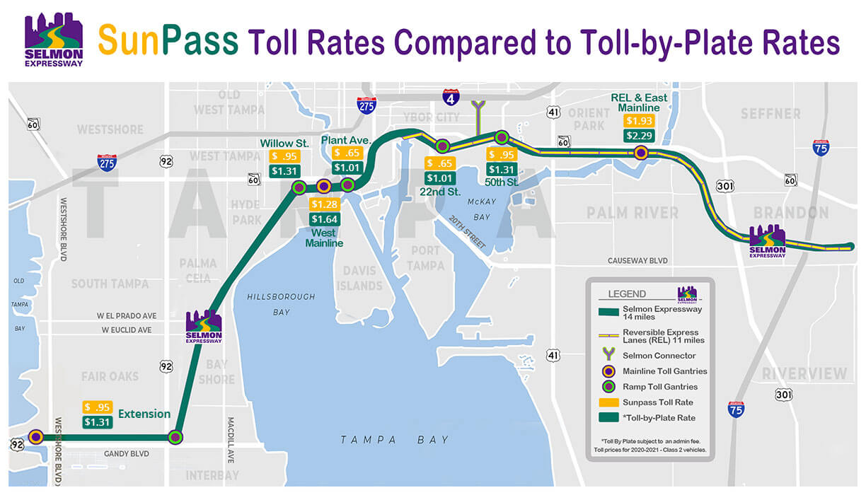 Toll Rates July 2021